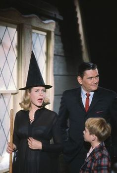 """Bewitched"" (1964-72) Elizabeth Montgomery as Samantha Stephens Dick York as Darrin Stephens With Billy Mumy"
