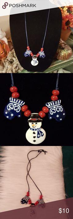 Christmas Ceramic Nylon Necklace Christmas Ceramic Nylon Necklace Super Cute Get Ready For The Holidays. Handmade Jewelry Necklaces