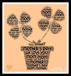 Word Cloud Art Design For Mother's Day! Designed by Polka Dot Heart Art. Word Cloud Art, Love You Mom, Heart Art, Note Cards, Wall Art Prints, Polka Dots, Messages, Graphic Design, Words