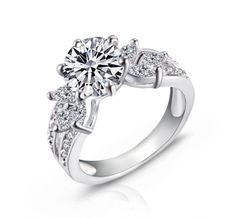Royal White Gold Plated Simulated Diamond 3.15ct Seven Stone Engagement Ring - All Things Luxury