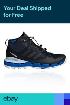 more photos 53f83 a7b2f adidas Mens Terrex Fast Mid GORE-TEX Surround Walking Boot Black Sports  Outdoors