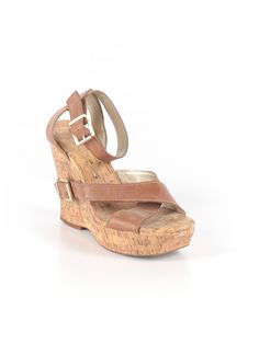 Jessica McClintock  Wedges: Size 9.00 Brown Women's Clothing - $20.99