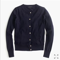 J Crew navy merino wool cardigan size M Classic piece for any closet! 100% merino wool. In great condition. Size medium. J. Crew Sweaters Cardigans