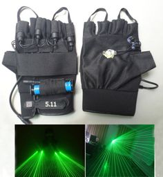 Multiple beam lasers gloves Green 532nm DJ Disco green laser glove Event &…