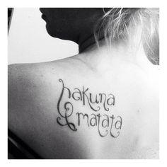 My hakuna matata tattoo!