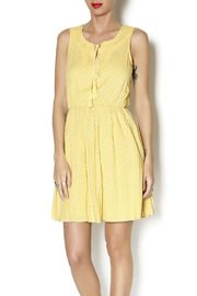 Bright yellow floral print sleeeveless lined dress. Crocheted yoke front with tassel tie elasticized waist and flirty skirt. Pair with a strappy summer sandal. Measures: shoulder to hem Dress Outfits, Casual Dresses, Dresses For Work, Crochet Yoke, Unique Outfits, Yellow Dress, Sunshine, Floral Prints, Boutique