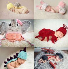 3 Patrones de gorritos de bebé para su primer Carnaval | http://www.katia.com/blog/es/2014/02/25/descarga-patrones-gratis-gorritos-bebe-carnaval/: