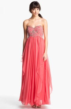 4ba3cb03f29 Max   Cleo Lace Detail Crinkled Chiffon Gown available at Nordstrom ...