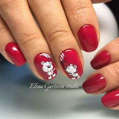 Easy Valentine's Day Nail Art Ideas Designs 2019 Cute Nail Art, Cute Nails, Valentine Nail Art, Xmas Nails, Gel Nail Designs, Trendy Nails, Nails Inspiration, Beauty Nails, Hair And Nails