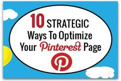 Infographic: 10 ways to optimize your Pinterest profile