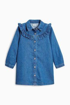 Kaufen Sie Jeanskleid mit Rüschen (3-16 Jahre) heute online bei Next: Deutschland