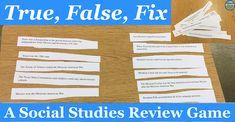 True, False, Fix: A Social Studies Review Game   The TpT Blog