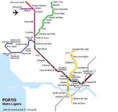 Carte du métro de Porto