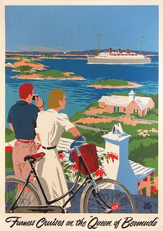 Furness Cruises on the Queen of Bermuda (Tourists with Bike)
