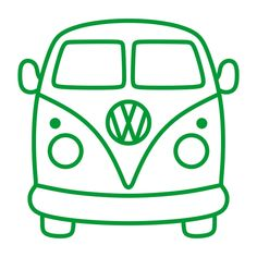 VW Volkswagen Bus Van Cuttable Design in 2020 Volkswagen Bus, Vw Camper, Silhouette Cameo, Deco Surf, Bus Drawing, Easy Arts And Crafts, Cutting Tables, Vector Clipart, Design Set