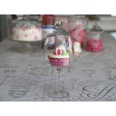 Chic Antique Glassklokke på fot med Monogram