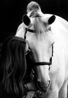 """ When your horse follows you without being asked, when he rubs his head on yours, and when you look at him and feel a tingle down your spine...you know you are loved."" John Lyons"