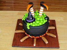 bolo decorado bruxa
