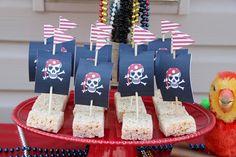 rice krispie treats for bake sale during pirate themed regatta