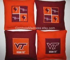 VT Virginia Tech Hokies Cornhole Bean Bag Toss by CornholeMadness, $31.99