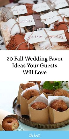 Autumn Wedding Ideas 20 Fall Wedding Favor Ideas Your Guests Will Love - Send your guests home with a thoughtful and seasonal treat. Honey Wedding Favors, Creative Wedding Favors, Inexpensive Wedding Favors, Elegant Wedding Favors, Edible Wedding Favors, Wedding Shower Favors, Wedding Gifts For Guests, Wedding Ideas, Wedding Colors