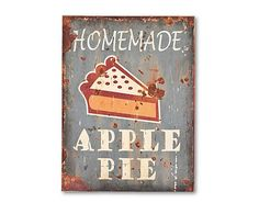 Placa decorativa de madera Apple Pie – 30x40cm