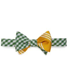 Social Primer Reversible Bow Tie: Gingham and BB Stripe - Brooks Brothers Suit And Tie, Brooks Brothers, Gingham, Personal Style, My Style, Style Men, Bow Ties, Mens Fashion, Man Clothes