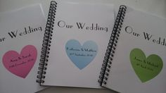 Personalised Wedding Planner Book, perfect for notes & scrapbooking