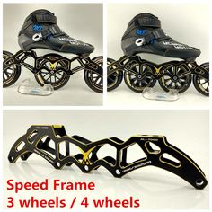 110mm wheels. ceramic bearings Inline Speed Skates by Trurev  3 skate frame