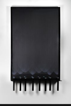 JONATHAN MONK All the possible ways of switching 8 torches on one at a time (black uplighting), 2014 Framed and mounted c-print, glass shelf, eight black cm MAG-Lite torches 78 7/10 × 55 1/10 × 7 9/10 in