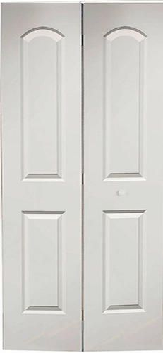 Jeld wen 32 in x 80 in molded smooth 2 panel arch primed white for larger closets from menards 2 panel arch primed bifold 36 x planetlyrics Images