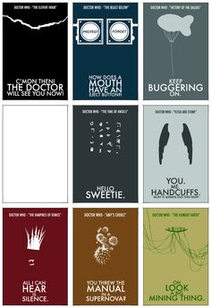 Doctor Who Quote Stationary Set