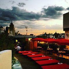 Cenas a ras de cielo #ThePrincipal #Madrid #LaTerraza #ThePlaceToBe #Cenasalfresco #Sunset