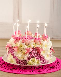 A Floral Arrangment That Looks Like Birthday Cake I Love It