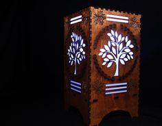 Lámpara árbol de la vida, cambiando la luz con o sin bombilla altavoz Bluetooth, otoño árbol tallado en madera escritorio Lámpara Android y IOS de la aplicación de color