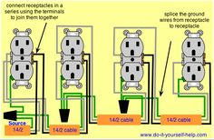 wiring outlets and lights on same circuit google search diy rh pinterest com  installing multiple electrical outlets diagram