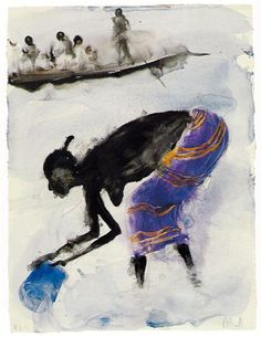 M. Barceló Action Painting, Spanish Painters, Spanish Artists, Jackson Pollock, Watercolor And Ink, Watercolor Paintings, Miquel Barcelo, African American Art, African Art