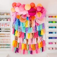 "Here at Bonjour Fête we're really all about subtlety and neutral colors and trying our best to not be ""over the top. Party Supply Store, Party Stores, Party Shop, Party Party, Balloon Shop, Balloon Garland, Balloons, Diy Party Decorations, Balloon Decorations"