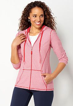 Relaxed Restyled Striped Hoodie, 9-0036155493, Relaxed Restyled Striped Hoodie Main View PGP