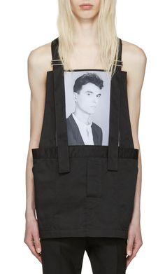 Raf Simons Black Robert Mapplethorpe Edition Dungaree David Byrne Top from SSENSE (men, style, fashion, clothing, shopping, recommendations, stylish, menswear, male, streetstyle, inspo, outfit, fall, winter, spring, summer, personal)