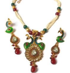 Handmade Enamel Work Peacock Pendant Necklace by ArmCandyForYou, $38.00