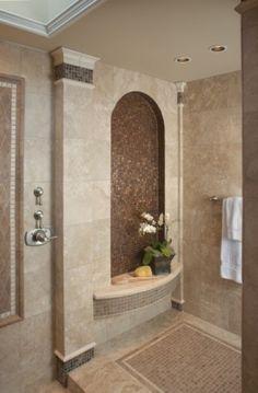 Master shower and bathroom bronze brown #floor interior design #floor design| http://floor-design.blogspot.com