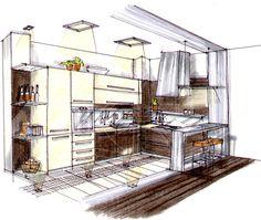 StudioVIrtuall legénylakás konyha perspektíva című képe az Indafotón.