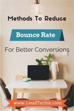 """Methods To Reduce Bounce Rate For Better Conversions  One of the most common questions I get is """"What is Bounce Rate?""""  Here's a simple explanation: Bounce rate is the percentage of people who visit your site and leave without visiting a second page. A rising bounce rate is a sign that indicates your home page is boring, vague or uninformative. Find Out Tips & Tricks to Reduce Higher Bounce Rate #BetterConversion #Blogging #BloggingTips #BounceRate #HigherBounceRate #ReduceBounceRate"""