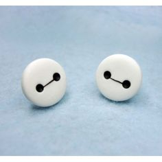 Baymax,fimo, handmade,hecho a mano,polymer clay,earrings,pendientes,big hero 6,robot,cute,disney
