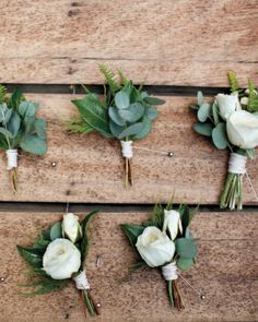 The Boutonnieres, the magazine had a wider image that included another boutonniere with lotus? and ucalyptus?