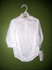 Peter Pan Collar Boys Long Sleeve Shirt Infant Bubble | eBay