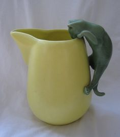 Vintage Camark Pottery Climbing Cat Pitcher