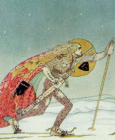I thought it was an interesting snow concept, as I am looking out the window at 5 feet of snow.  artist, Kay Nielsen