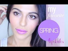 For more videos, SUBSCRIBE! http://www.youtube.com/missmavendotcom/ and be sure to visit my beauty blog: http://missmaven.com/  Spring is an exciting time of year because we get to bring back all the fun colors!! Im sharing some of my favorite lipsticks for the season, some extra bright and funky, and a couple more on the soft, neutral side.   ...